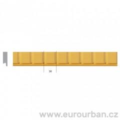 Dřevěná vyřezávaná lišta 1270 tech