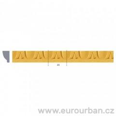 Vyřezávaná lišta ze dřeva 1284AH - Javor tech