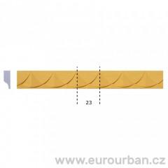 Dřevěná lišta s půlkruhovým vzorem 1285 tech