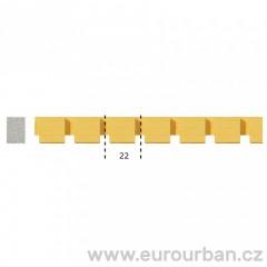 Dřevěná lišta s neobvyklým vyřezáváním 1302/A