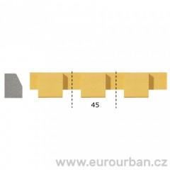 Dřevěná lišta s nevšedním vyřezáváním 1303/A - dřevina ayous tech