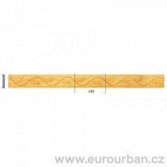Dřevěná lišta s velmi jemným vzorem 1304 - toulip tech