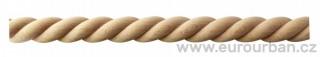 Dřevěná lišta spirálového typu 20/8I celokulatá - zábradlíčka ke kuchyňským linkám