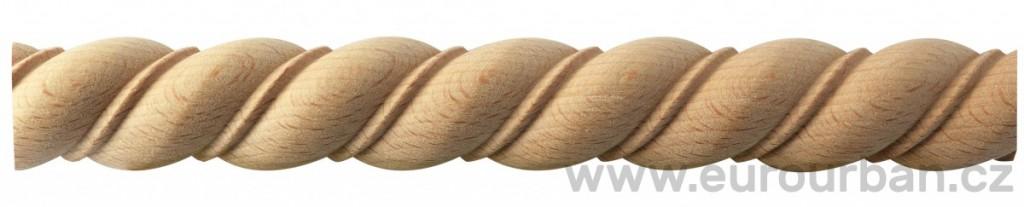 Dřevěná lišta s vyřezávaným detailem TH25