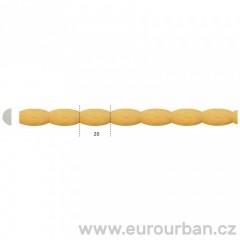 Dřevěná lišta s korálkovým vzorem TH28 tech