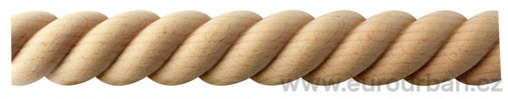 Masivní vyřezávaná lišta z bukového dřeva 20/33I