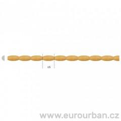 Dřevěná lišta korálkového vzhledu TH31