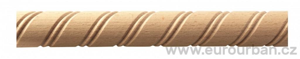 Dřevěná lišta s vyřezávanou spirálou TH42