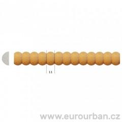 Dřevěná lišta s perlovým vyřezáváním TH73 tech