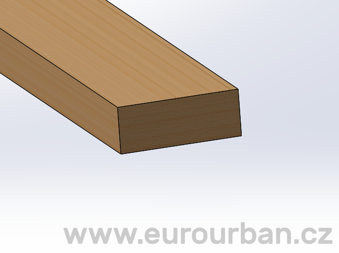 Prkno Bendywood REC-38/150 - 100 x 38 x 1500 mm - buk