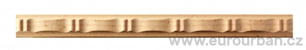 Vlnkovaná buková lišta 1208/130 - určená k ohýbání