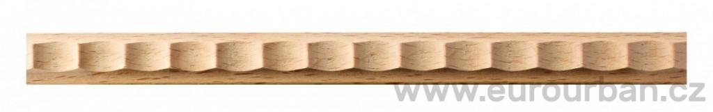 Dřevěná vzorovaná lišta 1212/130 - určená k ohýbání