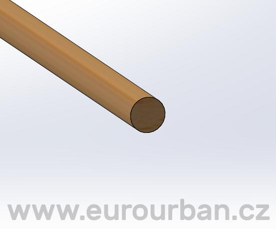 Kulatinka PVR ø 8 x 1000 mm - Bendywood