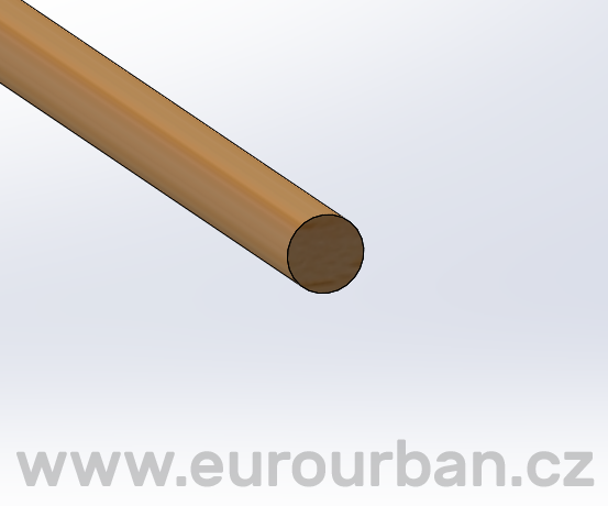 Kulatinka PVR ø 12,5 x 1300 mm - Bendywood