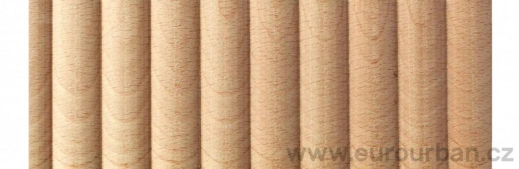 Buková lišta 3840/49x7 s příčnými oblouky