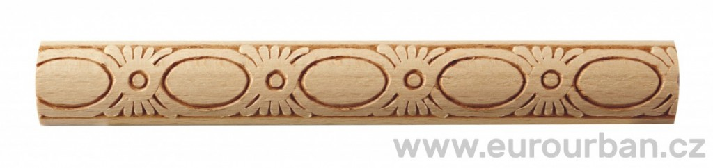 Dřevěná lisovaná lišta 825/25x7 se zdobenými ovály
