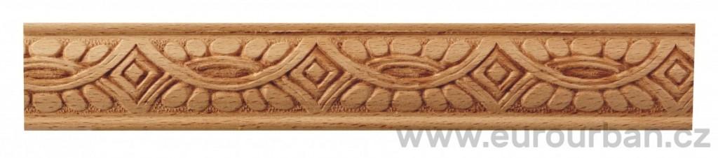 Dřevěná lisovaná lišta 833/31x7