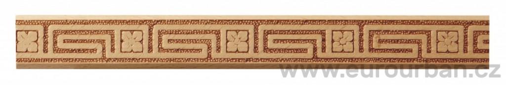 Dřevěná lisovaná lišta 1027/22x6 labyrint