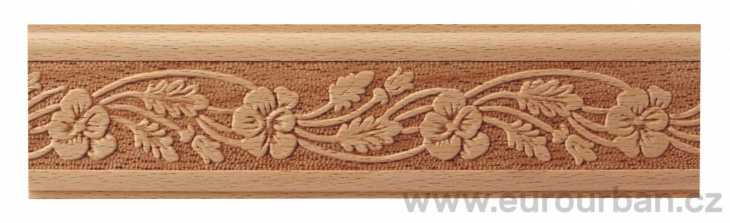 Dřevěná lisovaná lišta 845B/50x7 s popínavou rostlinou