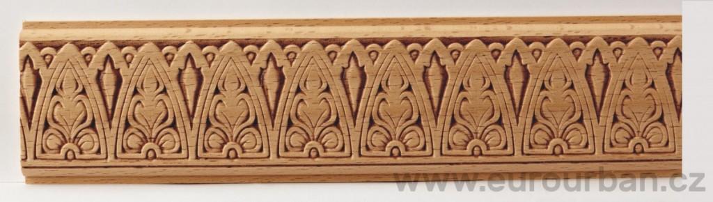 Dřevěná lisovaná lišta 3017/50x7 s motivem lesu