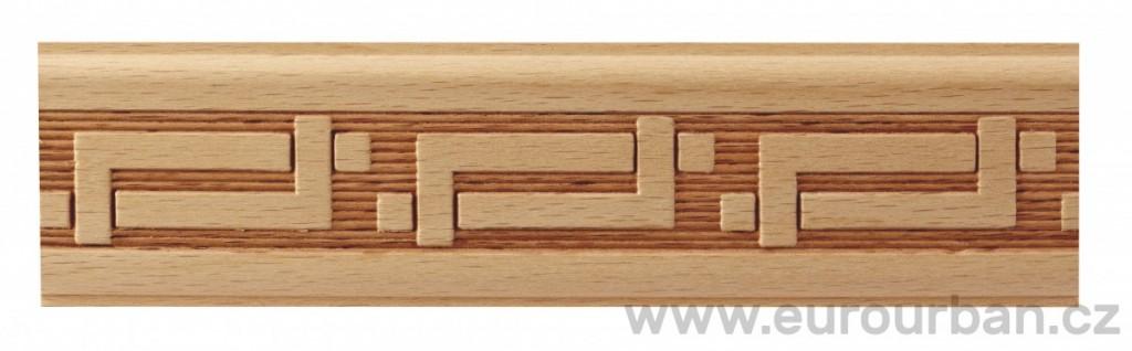 Dřevěná lisovaná lišta 9012/50x7 zapletené hokejky