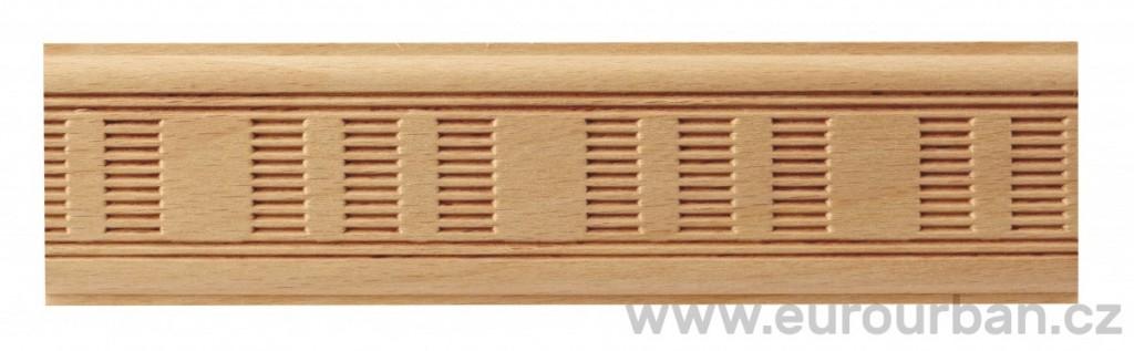 Dřevěná lisovaná lišta 9027/50x7 větrací mřížka