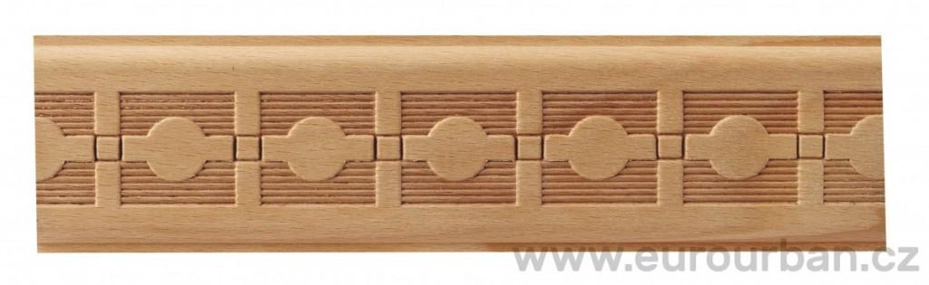 Dřevěná lisovaná lišta 9028/50x7 Saturn
