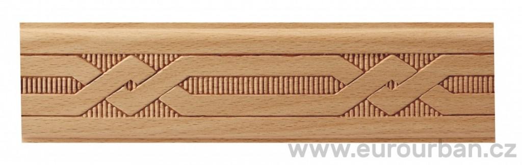 Dřevěná lisovaná lišta 9023/50x7 propletená trať
