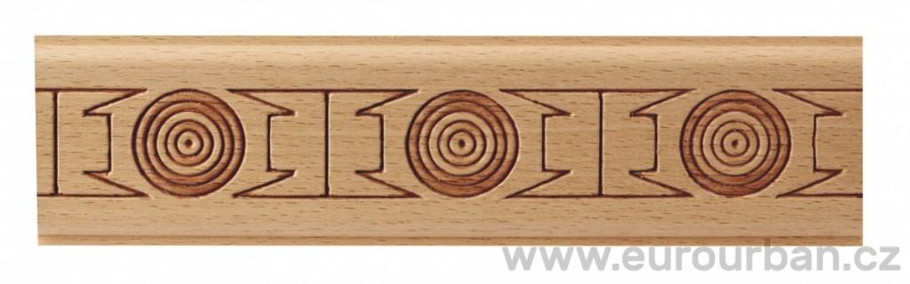 Dřevěná lisovaná lišta 9020/50x7 hieroglyfy