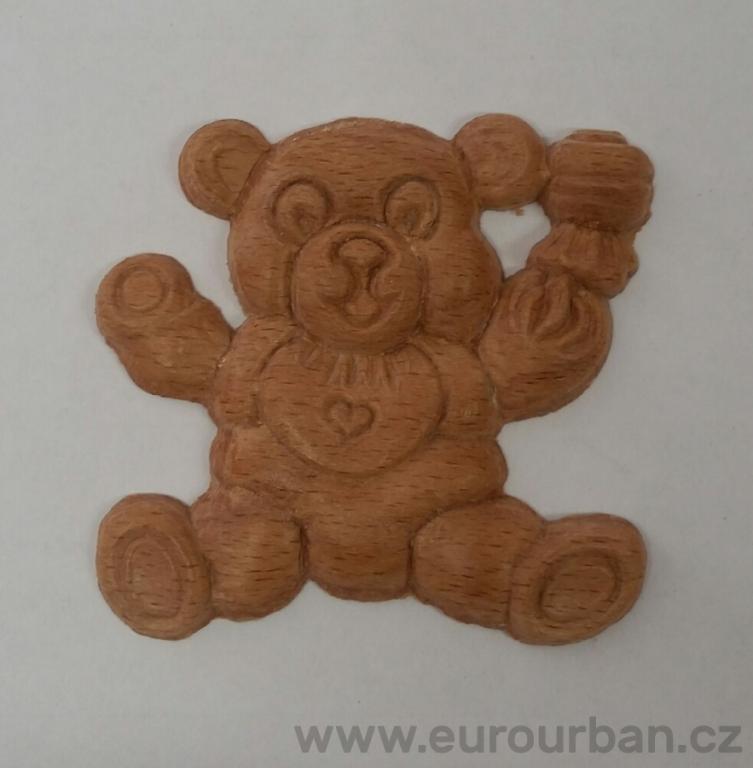 Dřevěný medvěd DK1