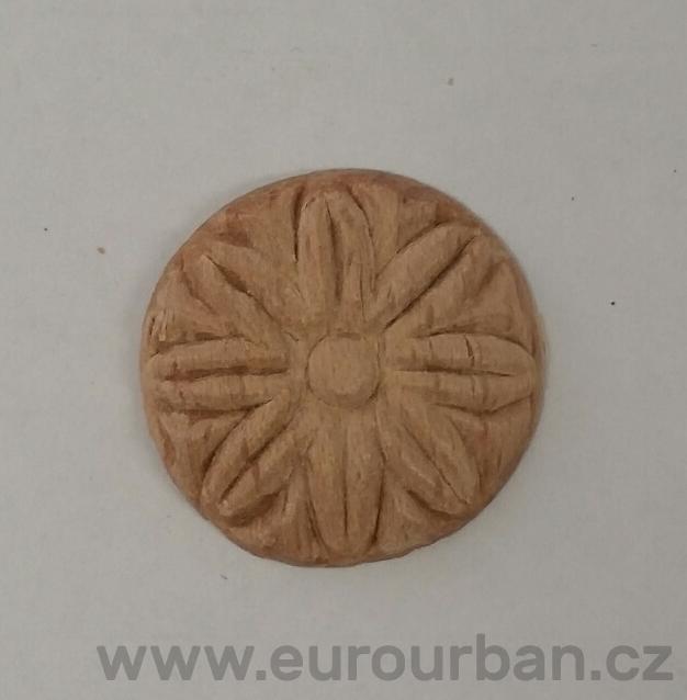Dřevěná řezba kulaté kytičky RR01