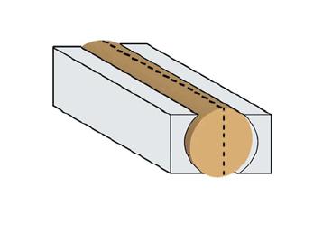 Pomocná forma k ohýbání M-40/200 - pro madlo ø 40 x 2000mm