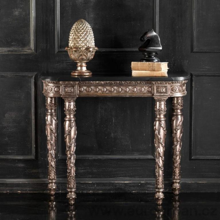 Luxusní historický konzolový vyřezávaný stolek CA11