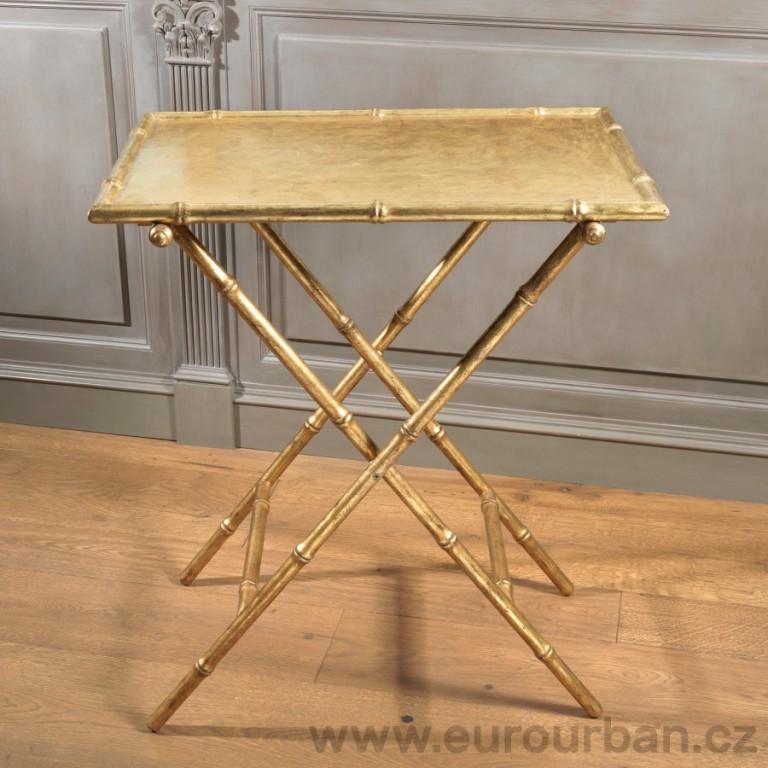 Skládací stůl CA18 - napodobenina bambusu