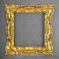 Vyřezávaný rám zlato 23 karátů