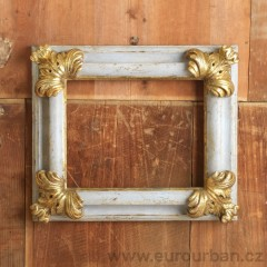 Dřevený zdobený rám - stříbro Meccato