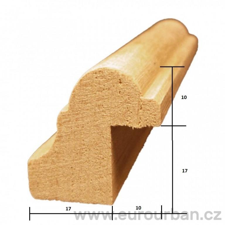 Masivní dřevěná profilovaná lišta PR-200