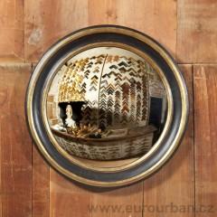 Kulaté vypouklé zrcadlo - pravé zlato/stříbro