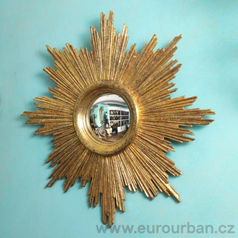 Kulaté vypouklé zrcadlo - slunce CA63