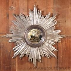 Kulaté vypouklé zrcadlo - slunce CA63 - starověké stříbro