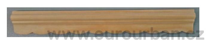 Borová lišta 4120/28x9 s obloučky