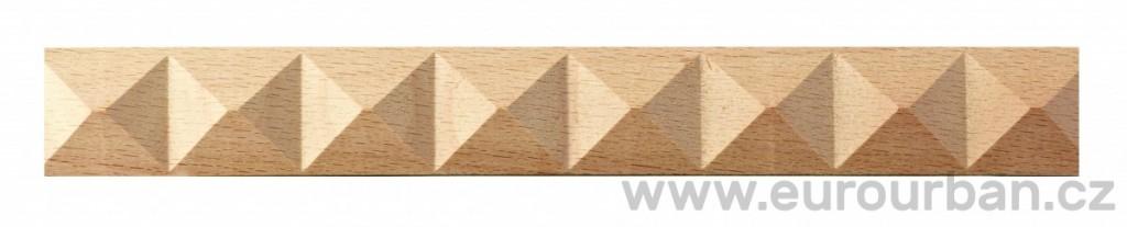 Dřevěná vzorovaná lišta 1200/130 - určená k ohýbání