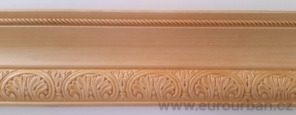 Vyřezávaná lišta s propracovaným vzorem 1305 - dřevina toulip