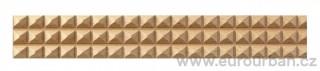 Buková lišta 4001/8x8 s pyramidami č.3