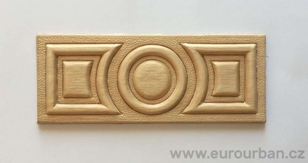 Obdélníková ozdoba na dveře F295
