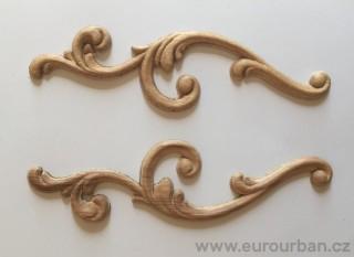 Dřevěná řezba k ozdobě rohů PW30