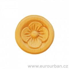 Vyřezávaná ozdobná dřevěná kytička s kulatým okrajem RR12 č.1