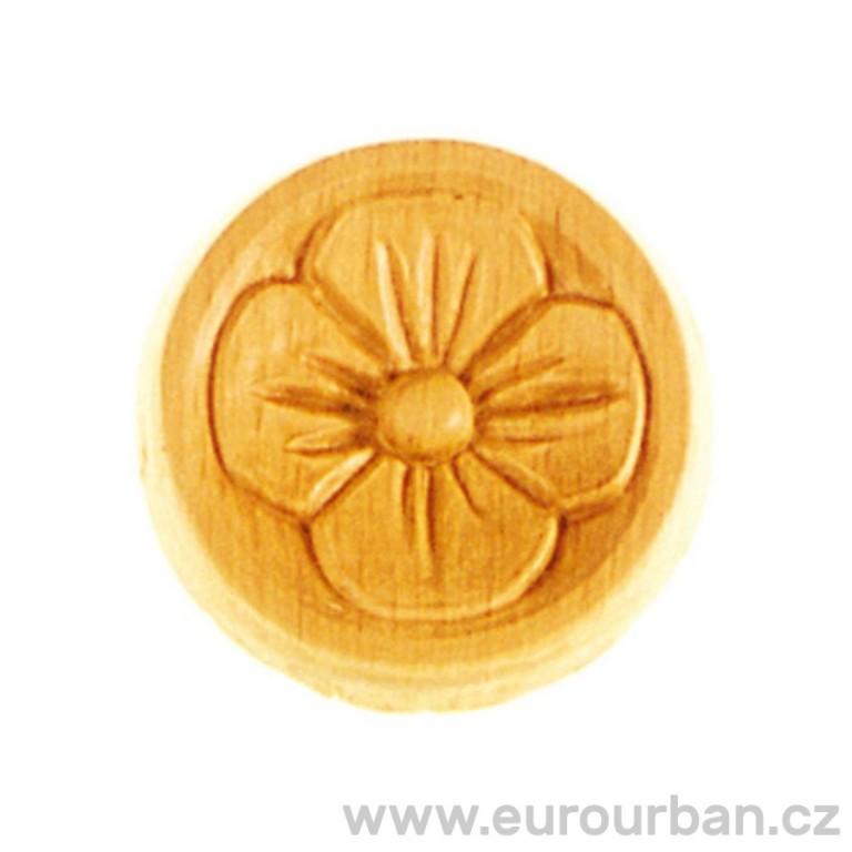 Vyřezávaná dřevěná kytička s kulatým okrajem RR11
