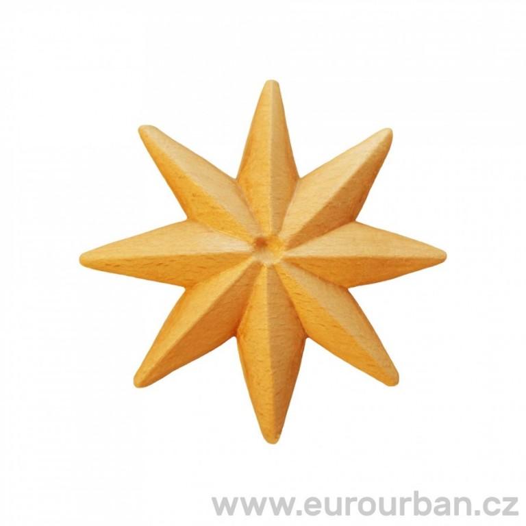 Dřevěná osmicípá řezba hvězdy RR71