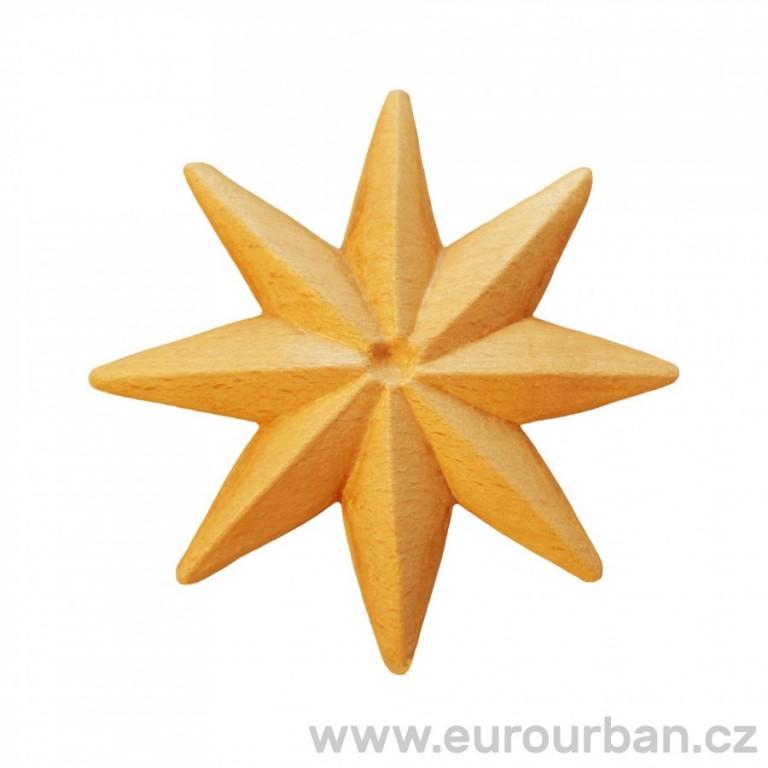 Vyřezávaná osmicípá dřevěná ozdobná hvězda RR72